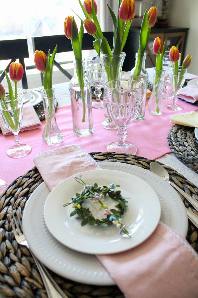 Spring Tulip Tablescape