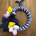 DIY Kate Spade Inspired Striped Spring Wreath