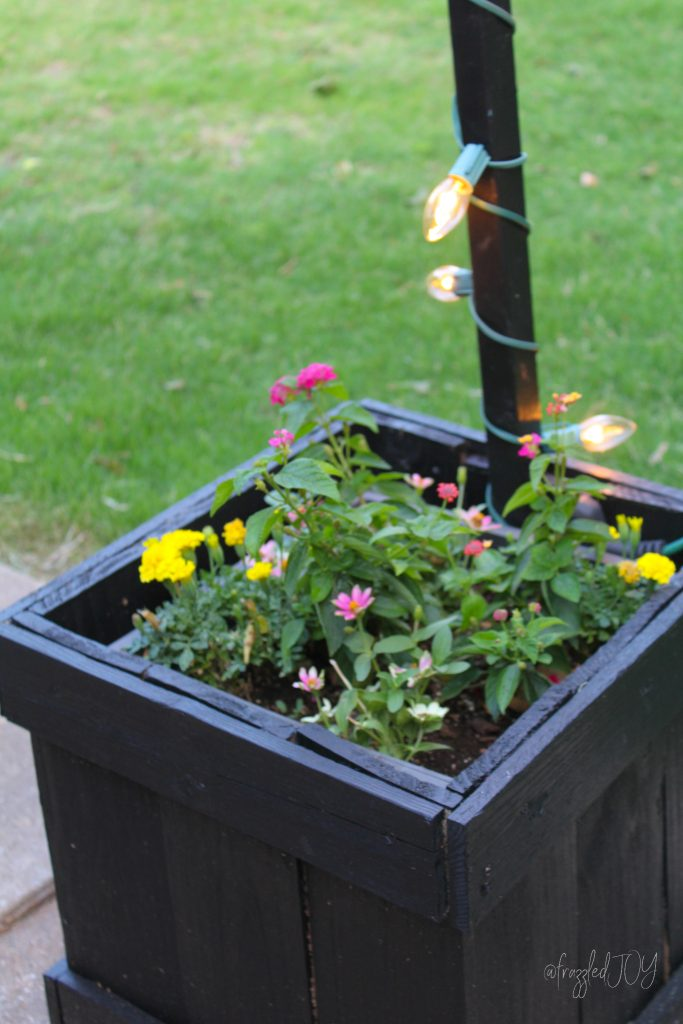 DIY Planters and light poles