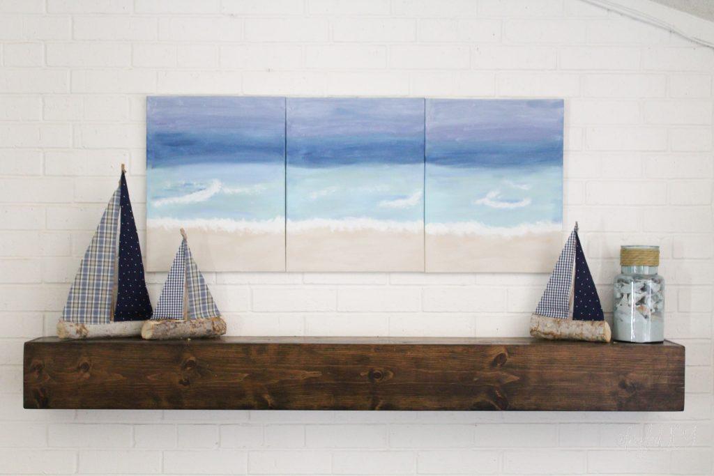 Summer Beach Mantel
