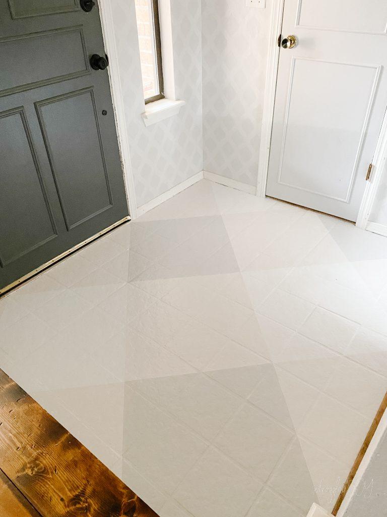 Painted Gingham Floor
