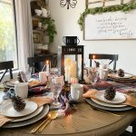 Plaid Fall Table