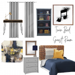 Twin Guest Bedroom Mood Board and Plan